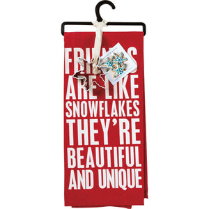 Friends are Like Snowflakes Tea Towel Set