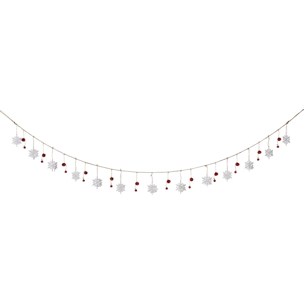 Snowflake and Bell Garland
