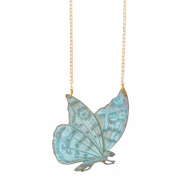 Vintage Moth Necklace