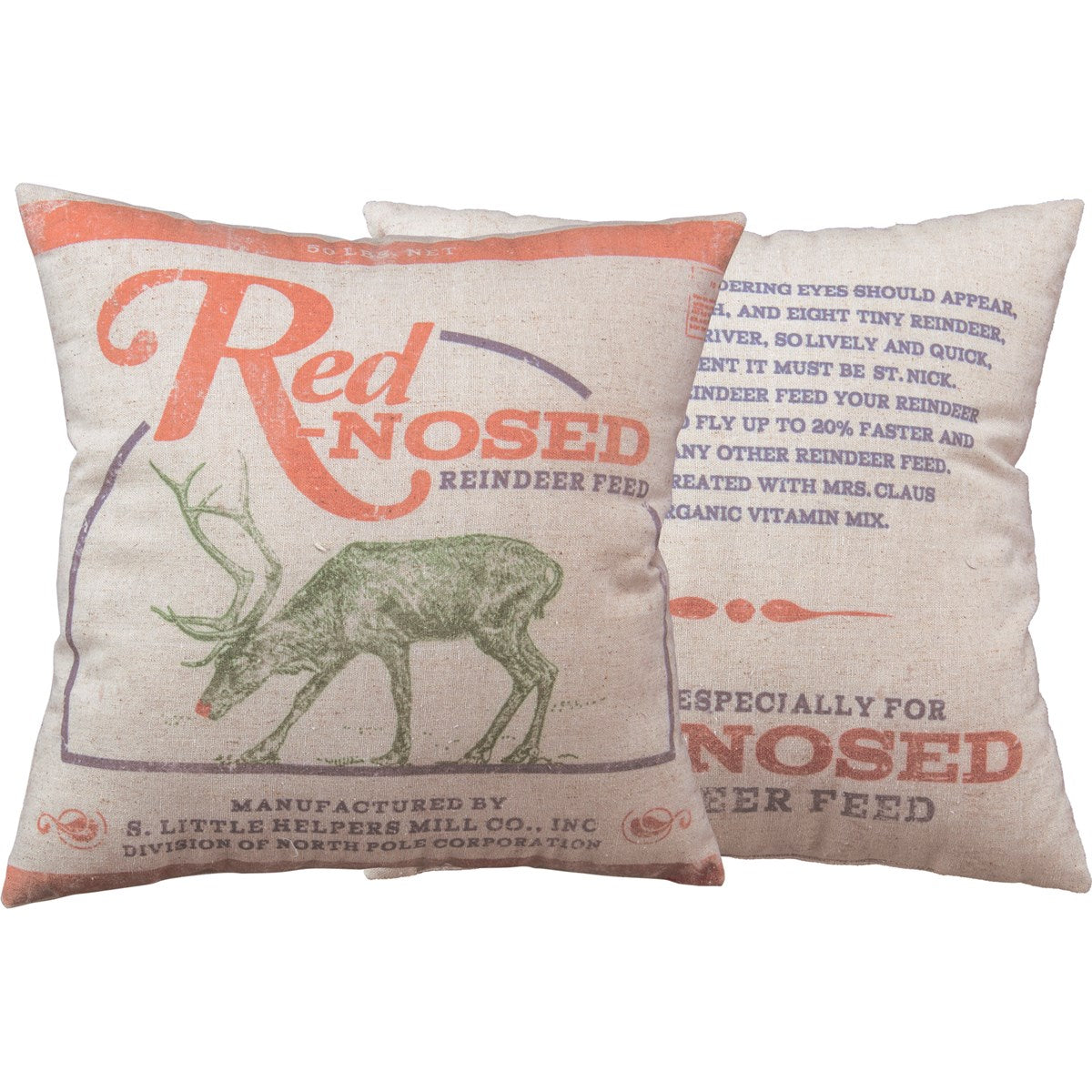 Red-Nosed Reindeer Pillow