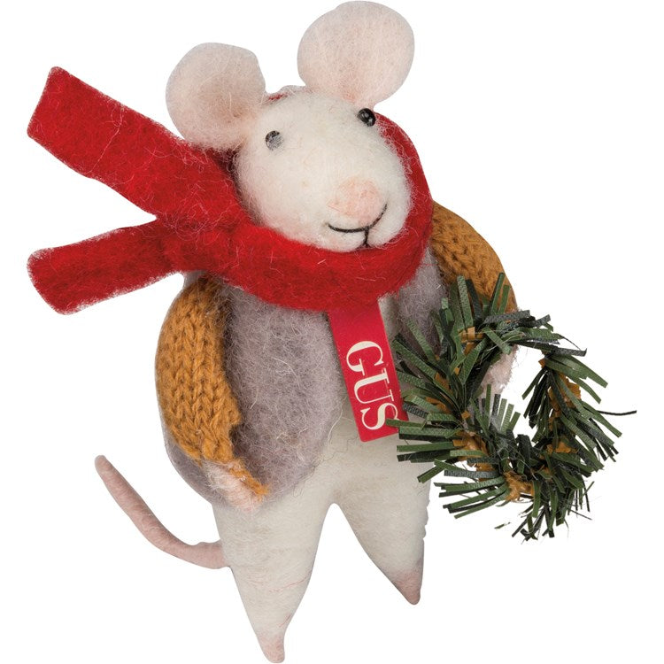 "Felt ""Gus"" Mouse Ornament"