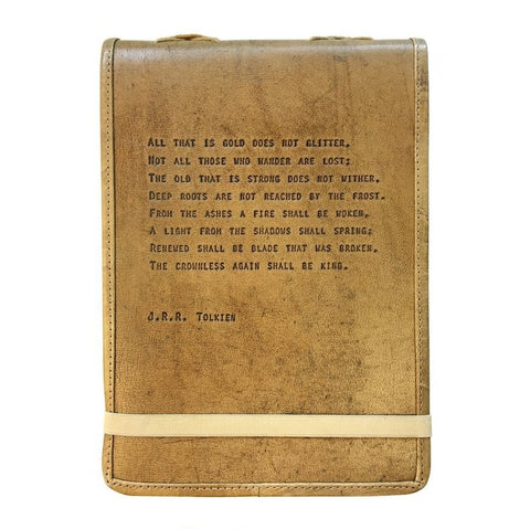 Sugarboo and Co Leather Quote Journal J.R.R. Tolkien