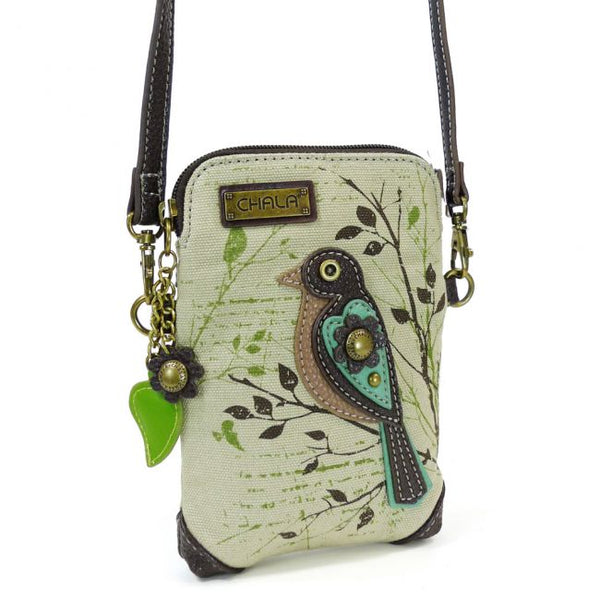 Bird Safari Canvas Cellphone Crossbody