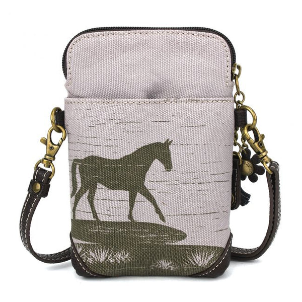 Safari Horse Canvas Cellphone Crossbody