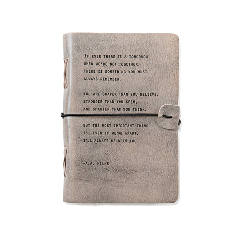 A.A. Milne Leather Quote Journal