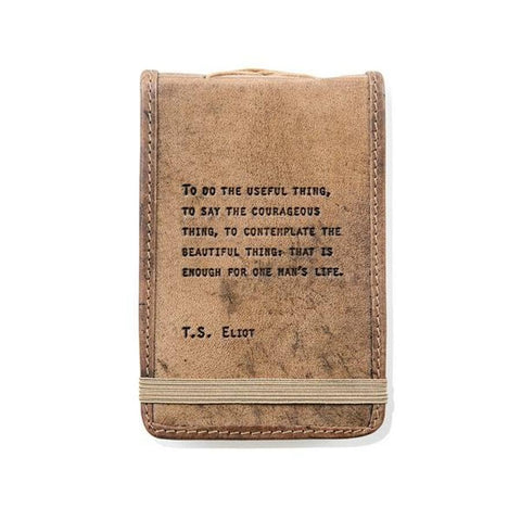 T.S. Eliot Small Leather Quote Journal