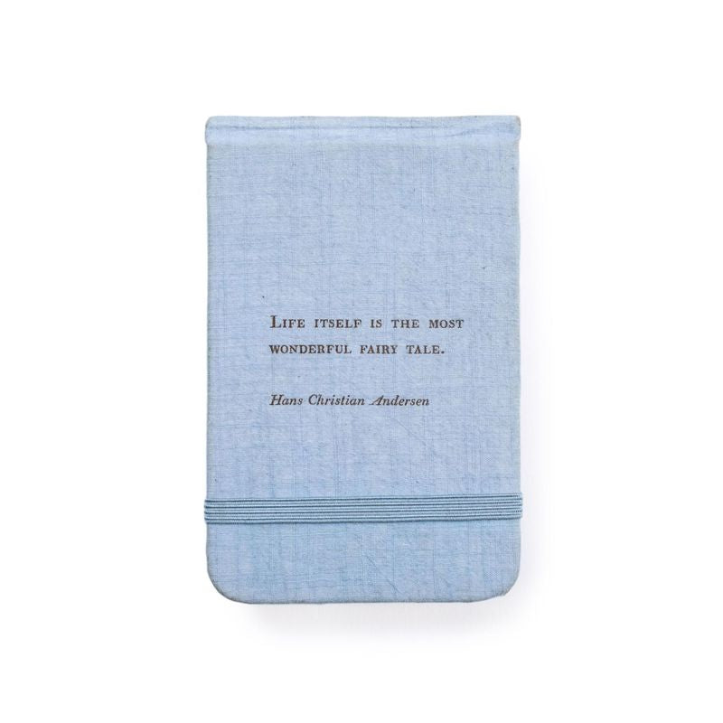 Hans Christian Andersen Fabric Quote Notebook