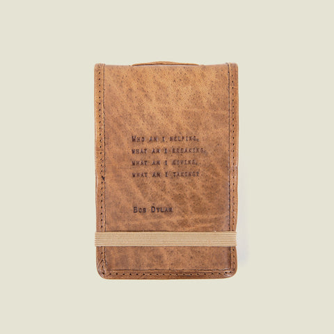 Bob Dylan Leather Quote Journal Notebook