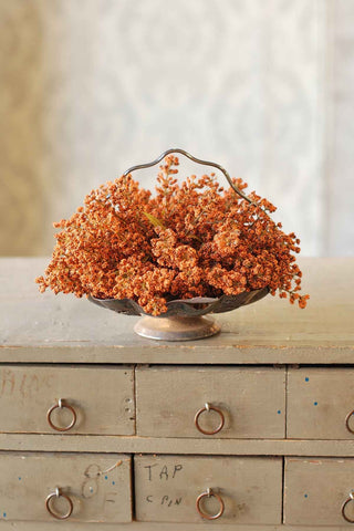 Astilbe in Pumpkin Ornage Bowl or Vase filler