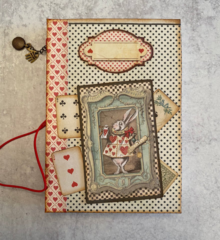 White Rabbit Alice in Wonderland Notebook