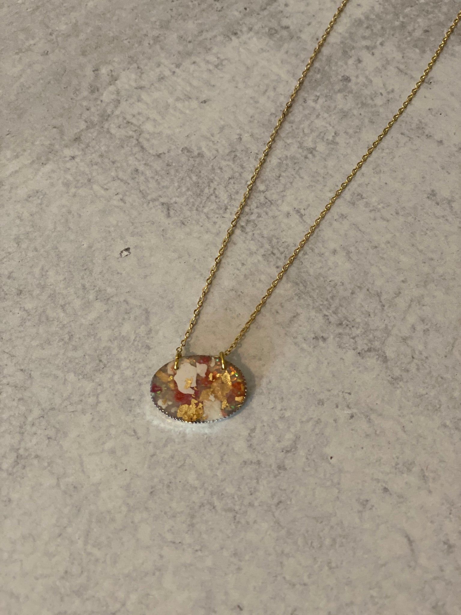 A Sunset in May Clay Necklace