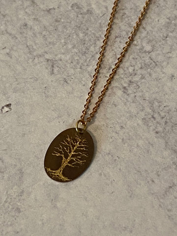 The Giving Tree Engraved Necklace