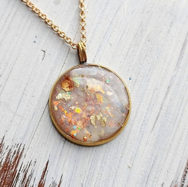 Summer Sunset Clay Necklace