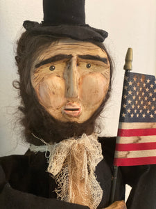 Hand Crafted Standing Abraham Lincoln