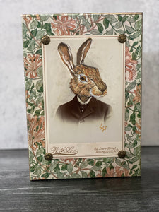 Hand-painted Whimsical Rabbit Photograph