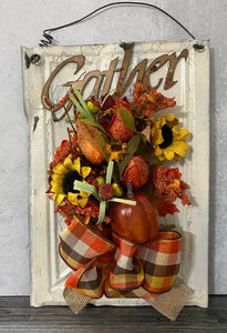 Gather Farmhouse Fall Sign