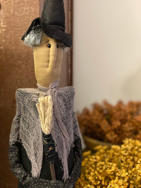 Handmade Standing Witch