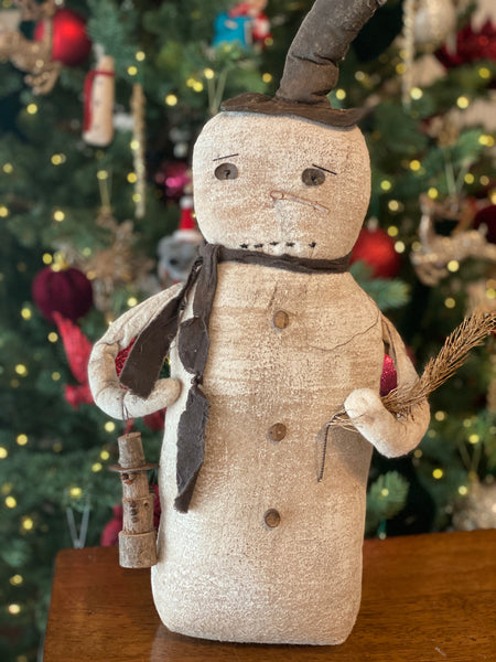 """Twigs the Snowman"" Handmade Primitive"