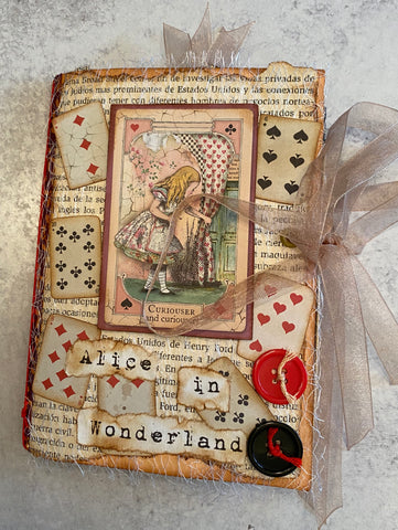 Alice in Wonderland Handmade Junk Journal