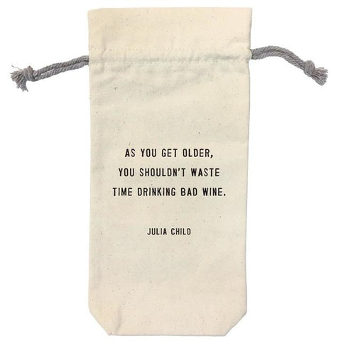 Wine Bag Julia Child Quote