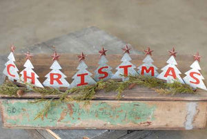 Metal Christmas Tree Table Top Decor