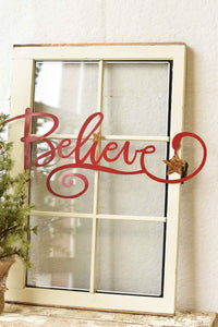 Believe Hanging Wall Sign