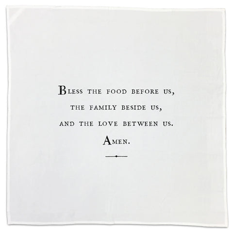 Prayer Family Quote Tea Towel or Napkin