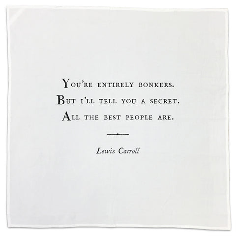 Lewis Carroll Family Quote Tea Towel or Napkin