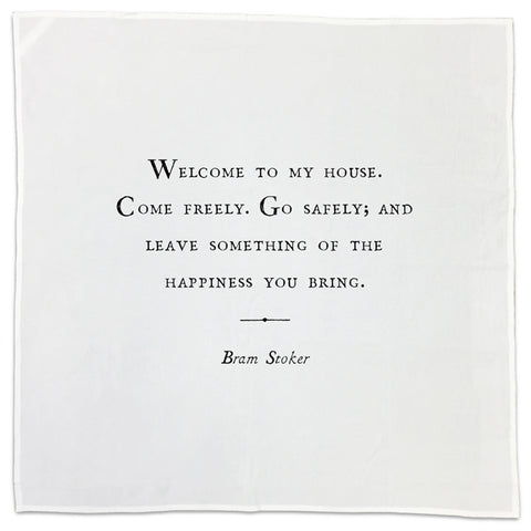 Bram Stoker Friendship Quote Tea Towel or Napkin