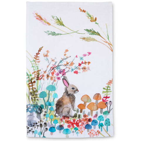 Betsy Olmsted Woodland Bunny Tea Towel