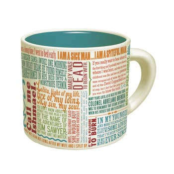 First Lines of Literature Mug