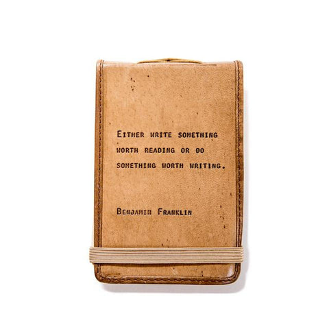 Benjamin Franklin Small Leather Journal