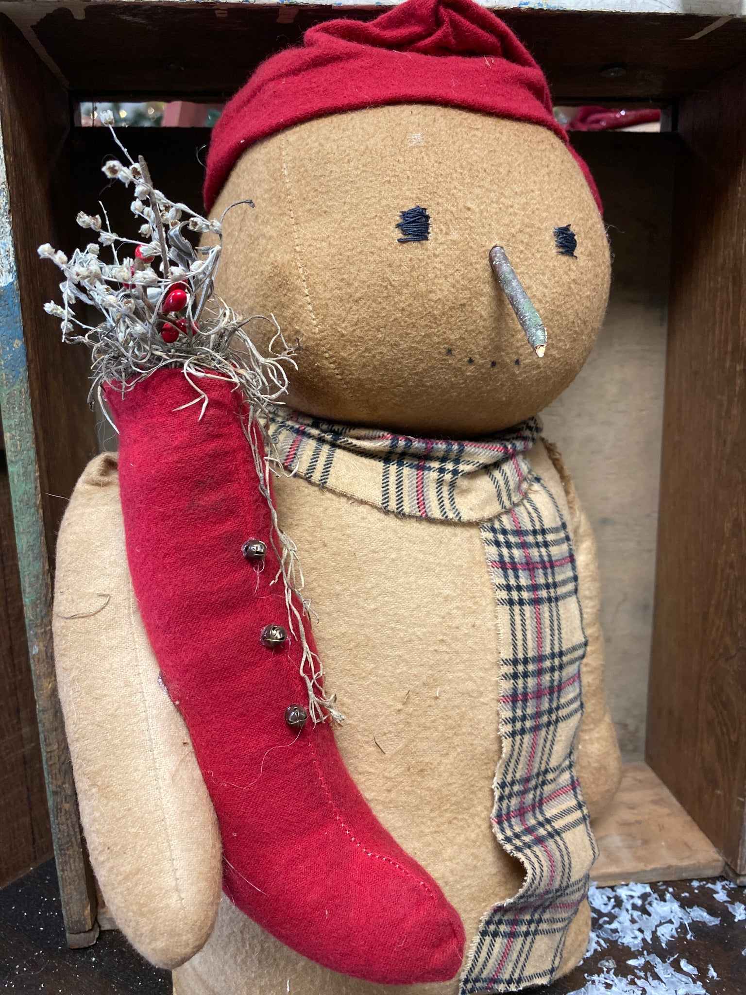 Handmade Snowman with Stocking