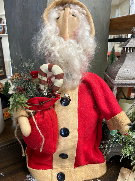 Handmade Old World Santa carrying a Sack