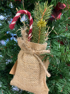 Handmade Candy Cane Hanging Sack