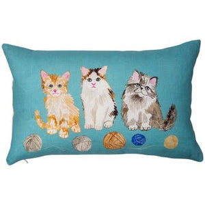 Betsy Olmsted Kitten Linen Pillow