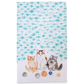 Betsy Olmsted Kitten Tea Towel