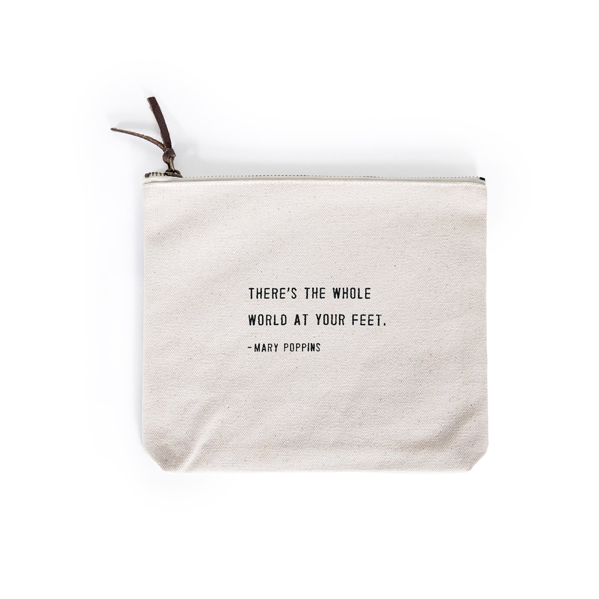 Mary Poppins Quote Canvas Zip Bags