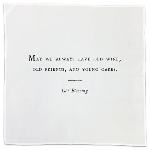 Old Blessing Friendship Quote Tea Towel or Napkin