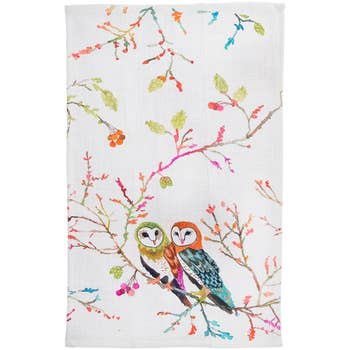 Betsy Olmsted Barn Owl Tea Towel