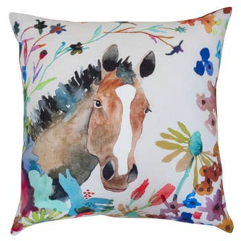 Betsy Olmsted Horse Pillow