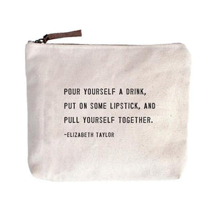 Elizabeth Taylor Quote Canvas Zip Bags
