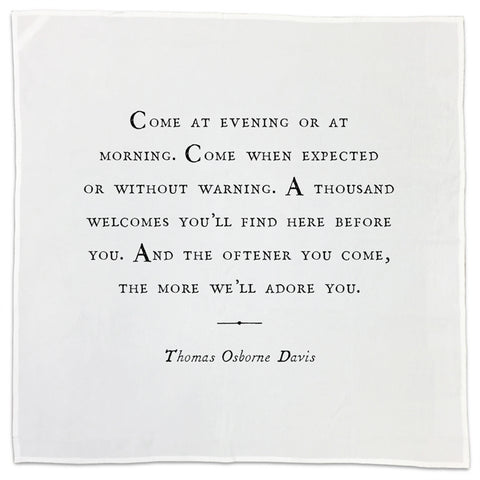 Thomas Osborne Davis Friendship Quote Tea Towel or Napkin