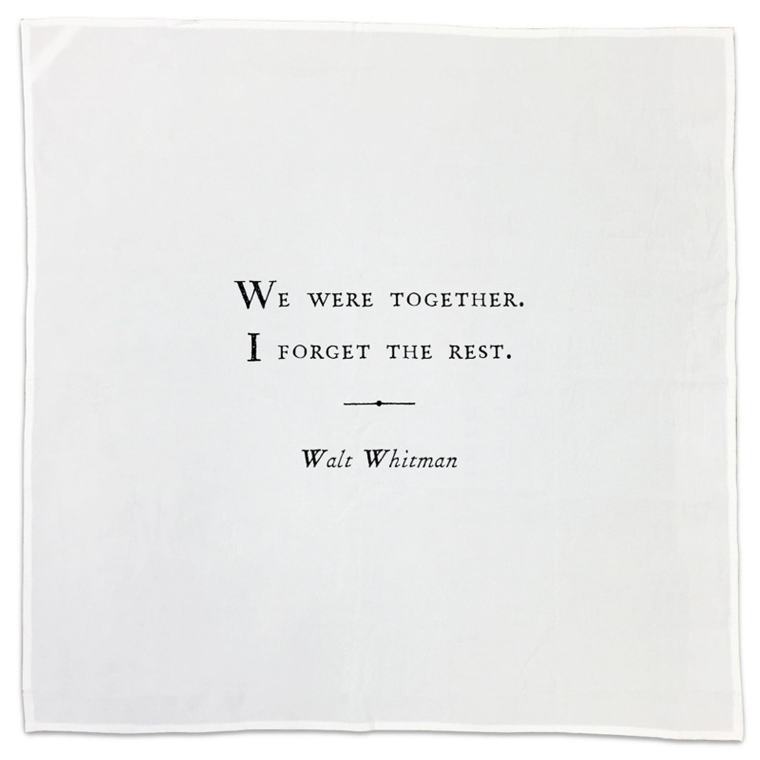 Walt Whitman Family Quote Tea Towel/Napkin