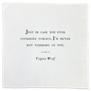 Virginia Woolf Family Quote Tea Towel or Napkin