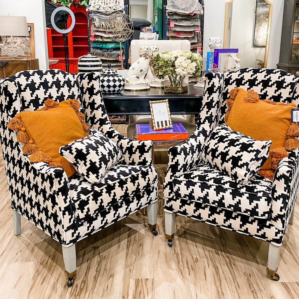 Houndstooth Armchairs