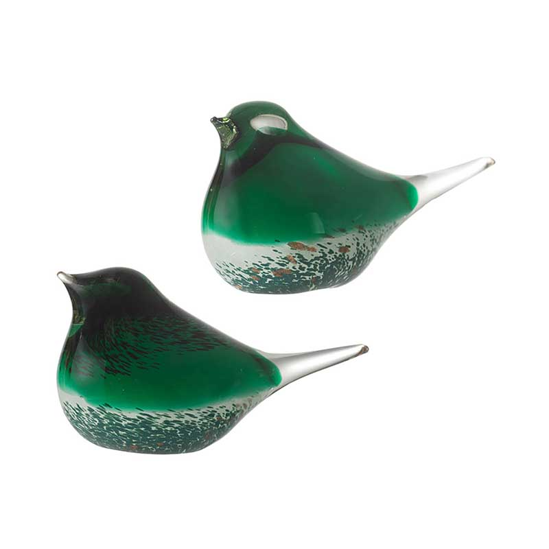 Set of 2 Glass Birds