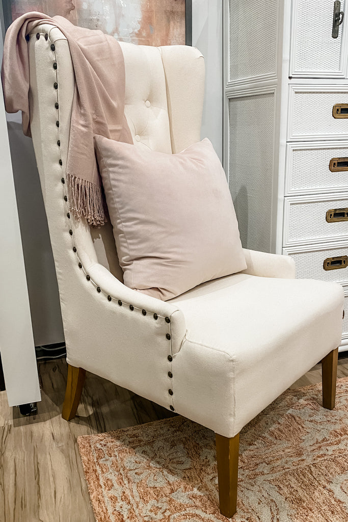 Linen Wingback Chair