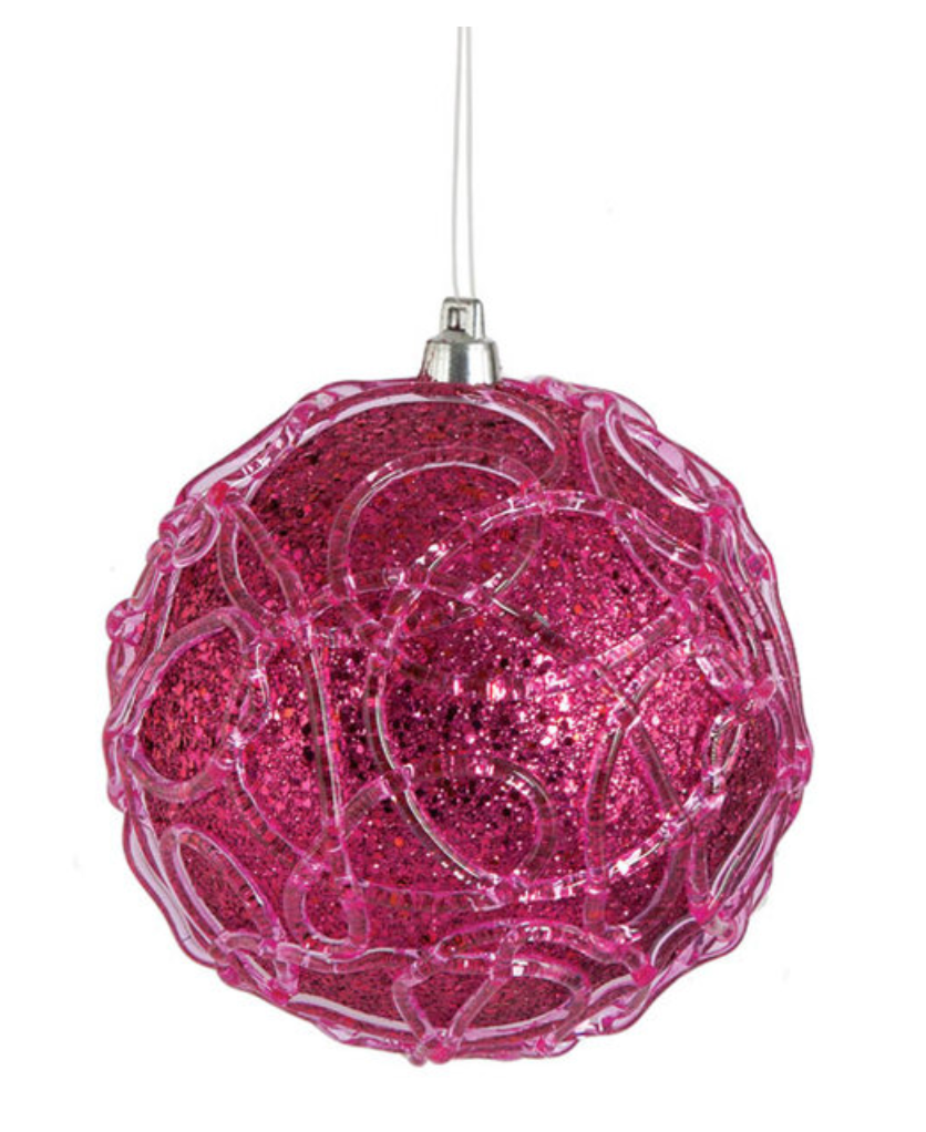 Hot Pink Ball Ornament