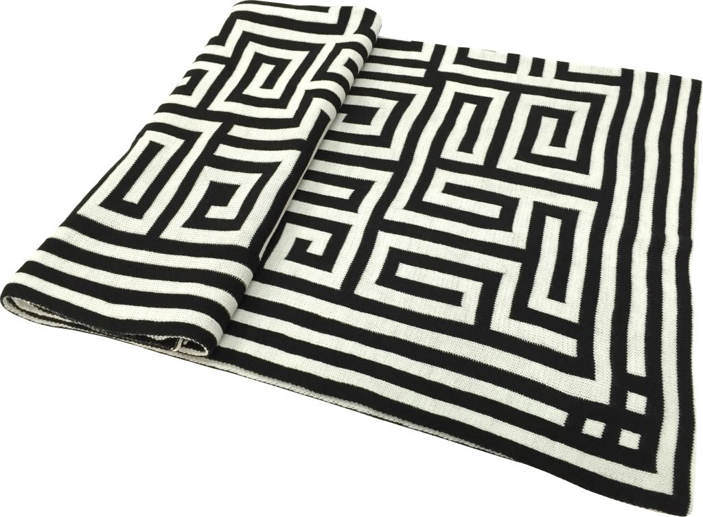 Black & White Geometric Throw